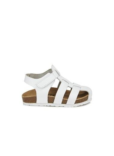 Vicco Vicco 905.20Y.080 Arena Hakiki Deri Kız/Erkek Çocuk Spor Sandalet Ayakkabı Beyaz